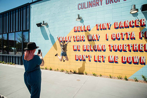 Instagrammable Jump at Culinary Dropout