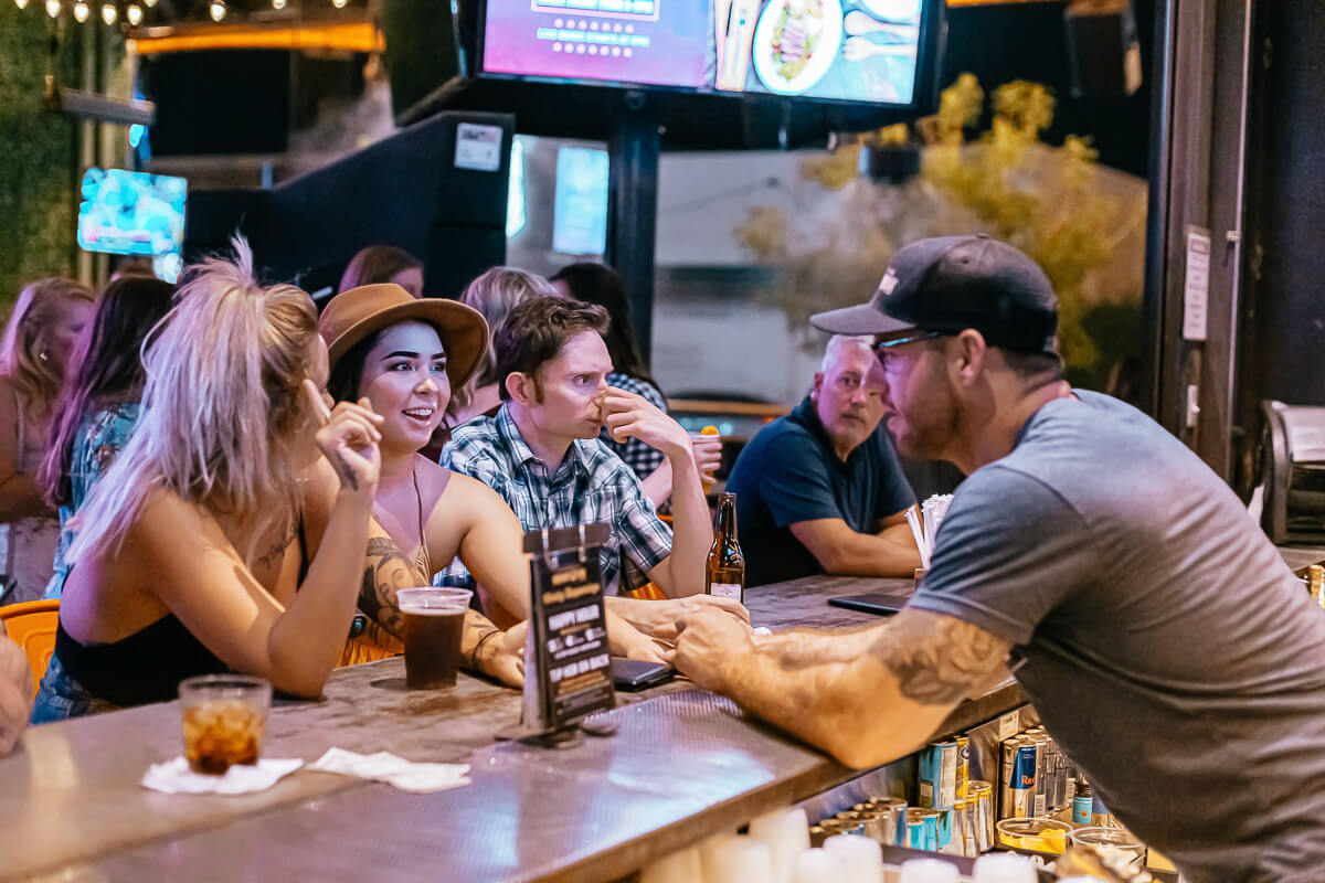 Dierks Bentley's Whiskey Row taking an order