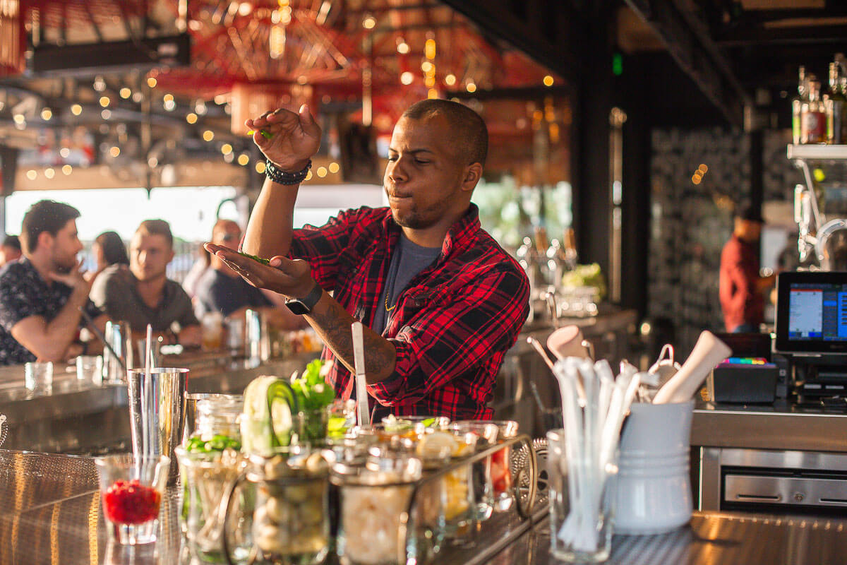 Culinary Dropout bartender