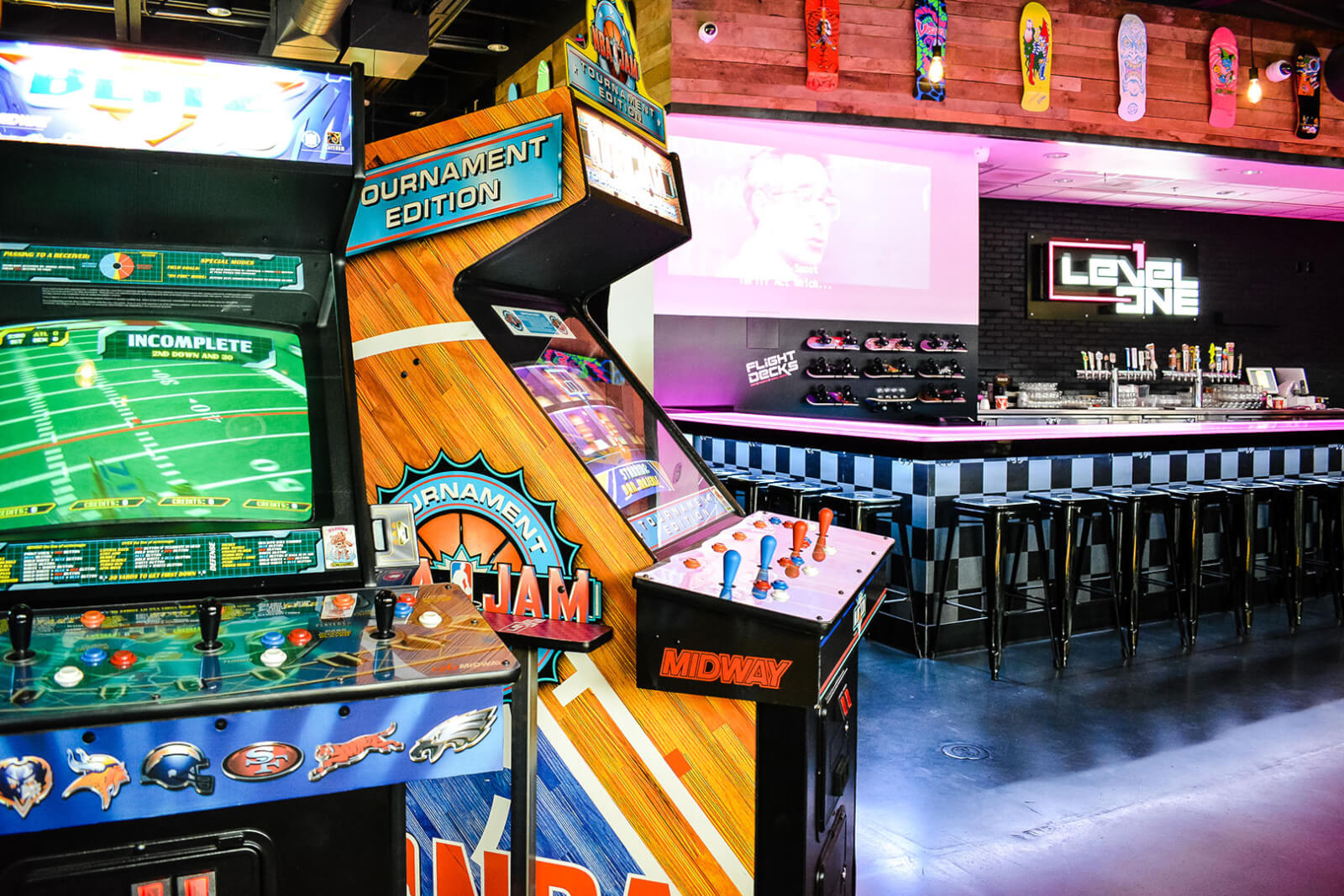 Level 1 Arcade Bar