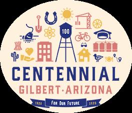 Logo of Gilbert Arizona's Centennial